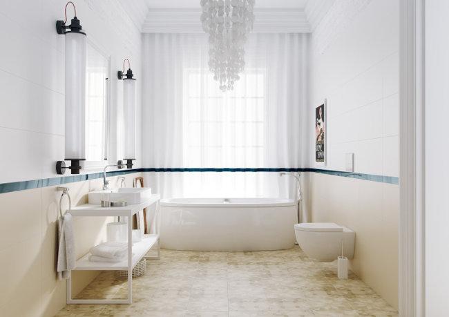 Matowe płytki w łazience